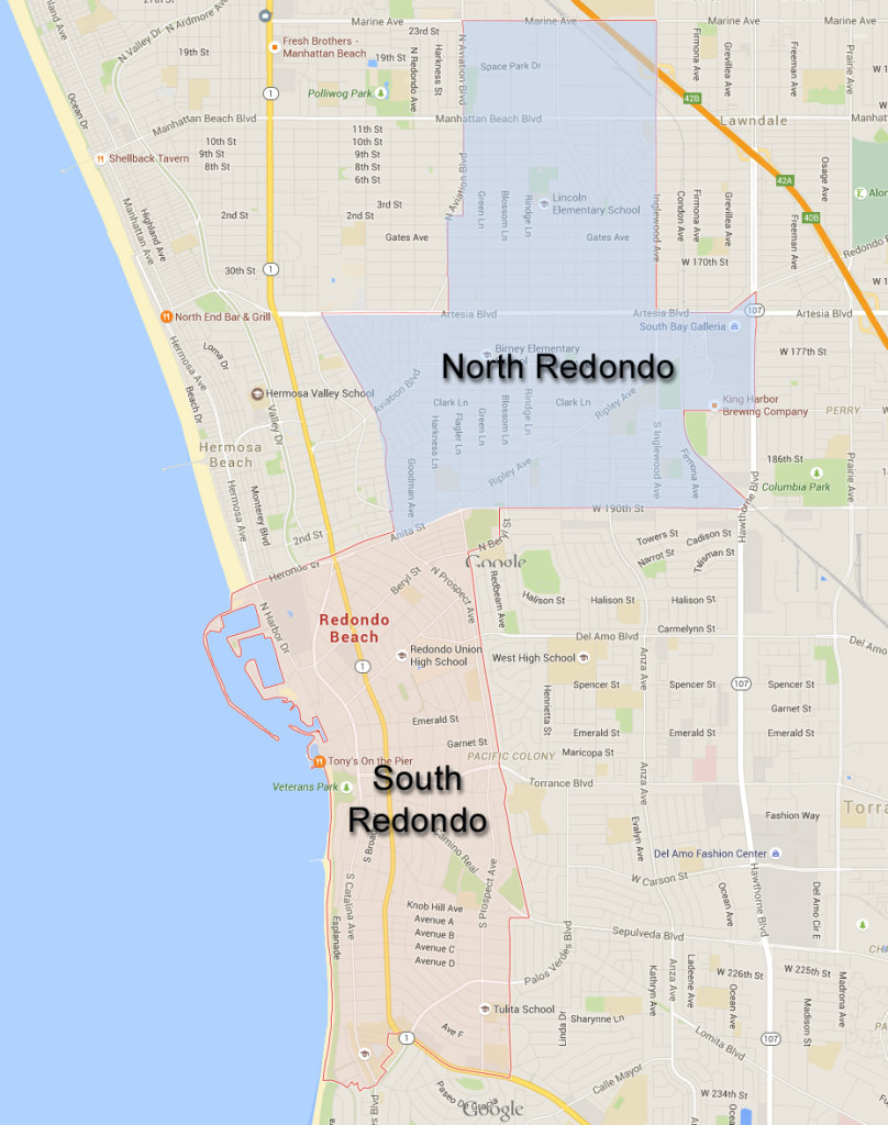 North-South-Redondo-Beach-Map